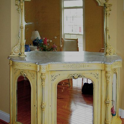 Antiqued Buffet after Refinishing