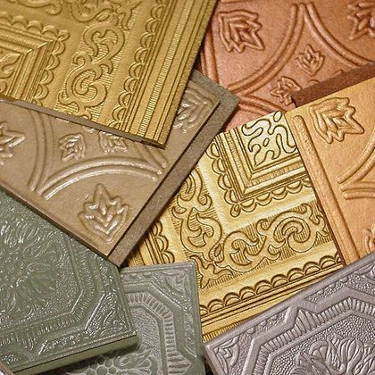 Metallic and Faux Tin Ceiling Tiles