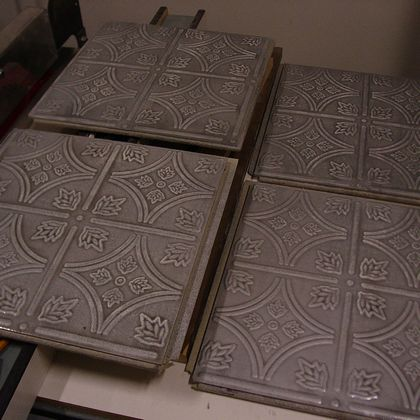 Antique Silver Tiles