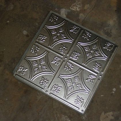 Bright Silver Ceiling Tile
