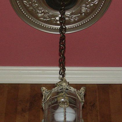 Antique Silver Ceiling Medallion