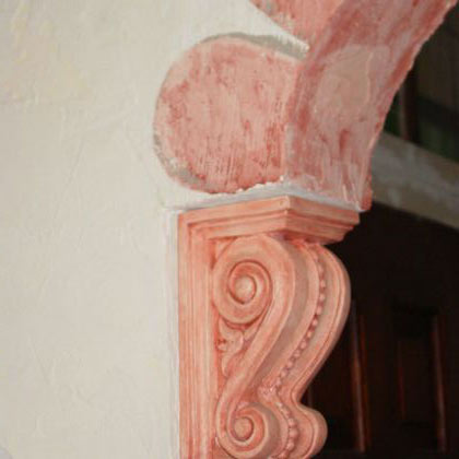 Faux finished Corbel