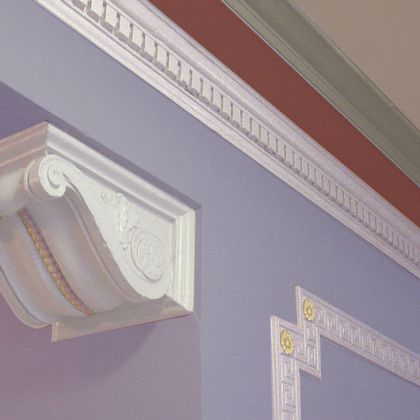Painted compound cornices