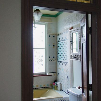 Victorian Mosaics in Bathroom