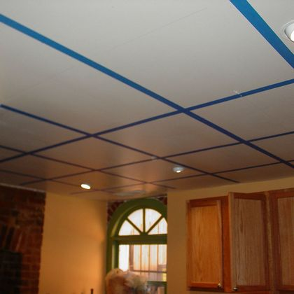 Installing a tin ceiling
