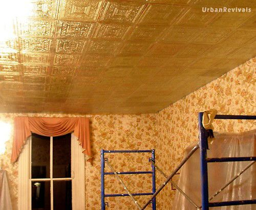 Faux Metal Ceiling Tiles Silver Gold Copper Bronze And