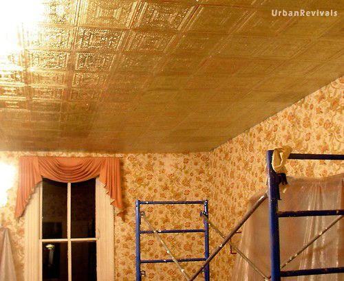Gilded Gold Ceiling Tiles