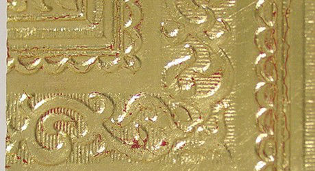 Gilding Gold Leaf over Red Bole for Ceilings