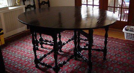 Restored Ebonized Dining Table