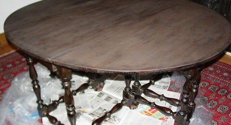 Furniture Restoration - Ebonizing a Table