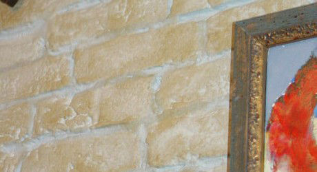 Faux Brick Finish in Sandstone