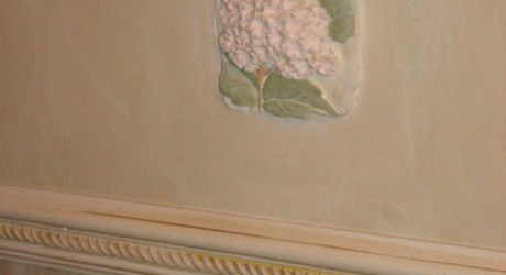 Plaster ornament in walls
