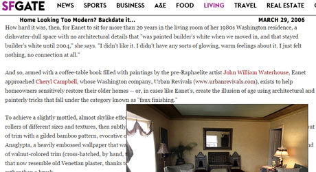 Urban Revivals in San Francisco Chronicle