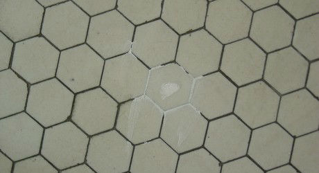 Encaustic Tile Crack Patched