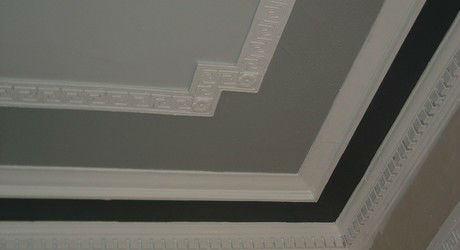 Completed compound cornice painting