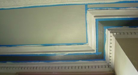 Compound cornice historic paint colors