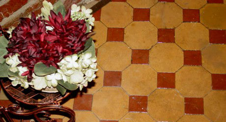 Encaustic floor tiles