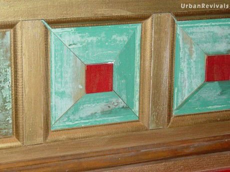 Verdigris finish in ornamental molding