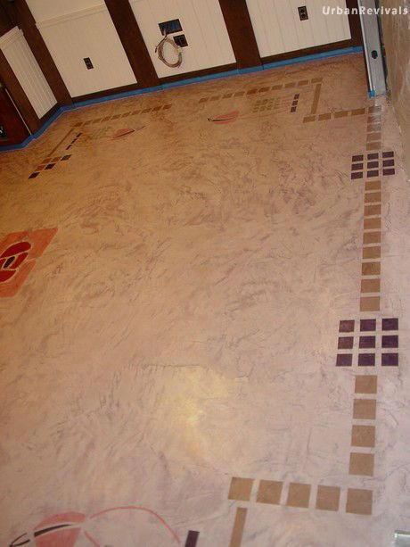 stencils for skimstone floor