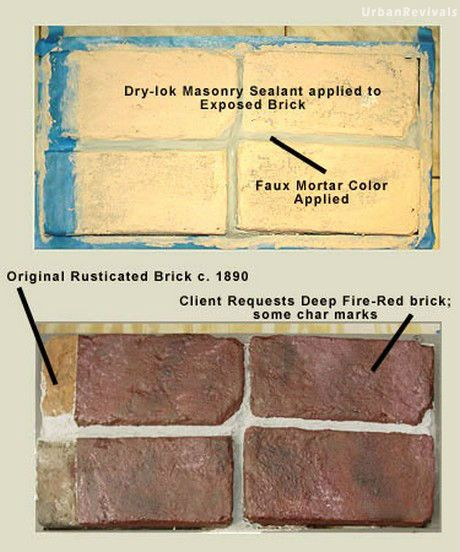 brick faux finish