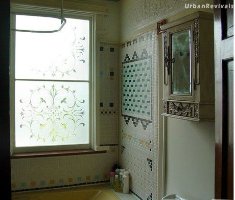 Lincrusta in Remodeled Bathroom