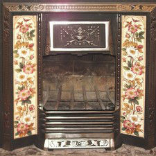 Rumford Fireplace with Tiles